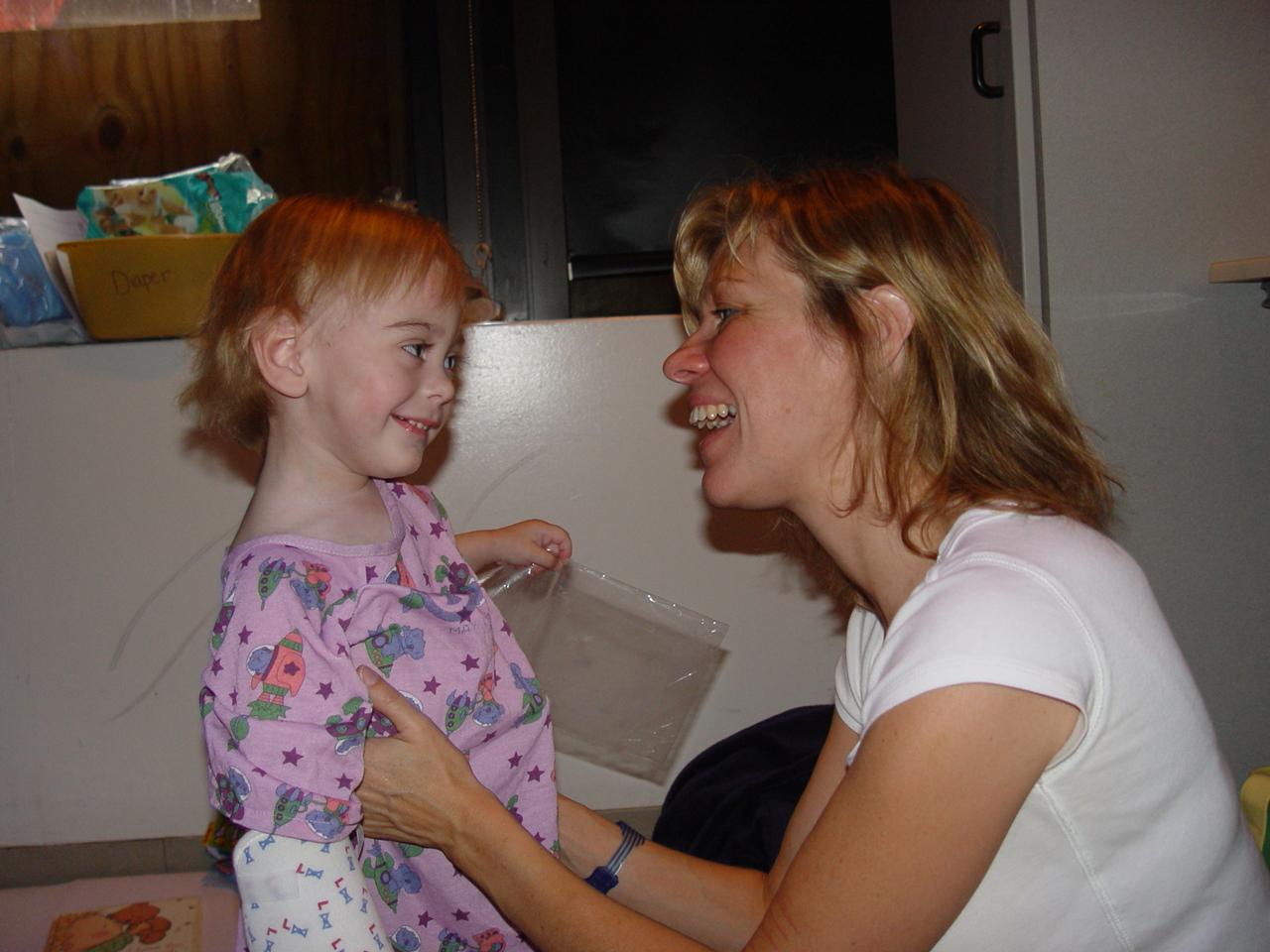 A caring mom tara holiday makes a massage 3